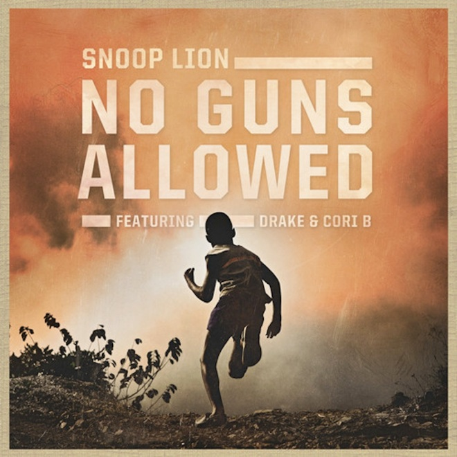 snoop lion no guns allowed single cover